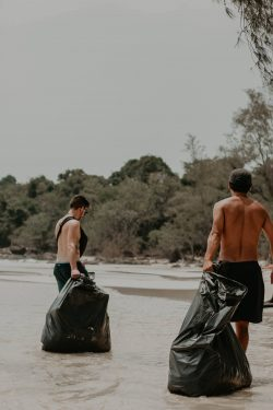 Picking up trash from ocean (Golf Balls and More ))